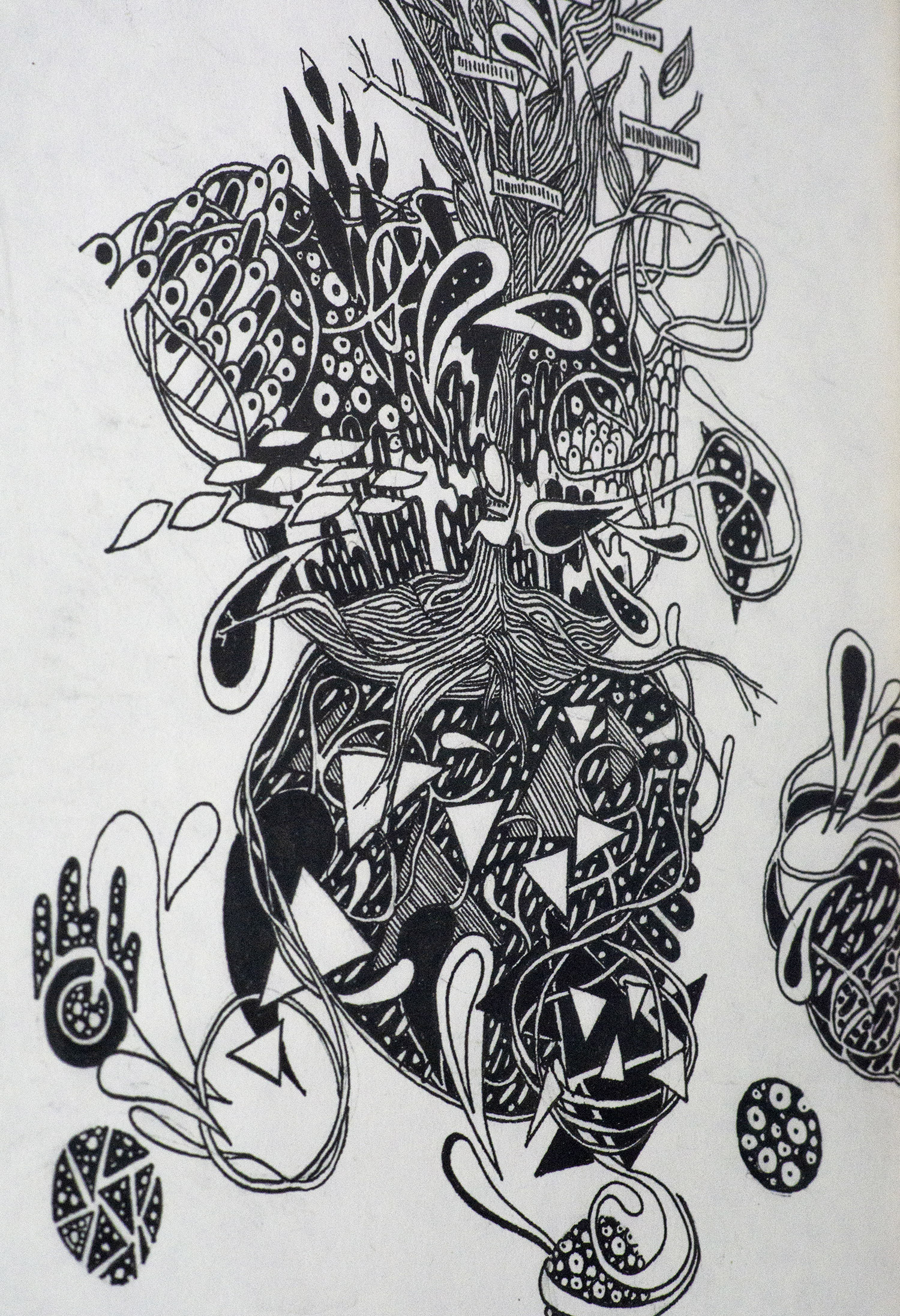Illustration à l'encre de Chine