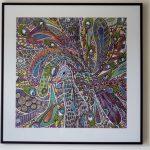 """Peinture et feutre acrylique """"Mouvement Naïf"""""""